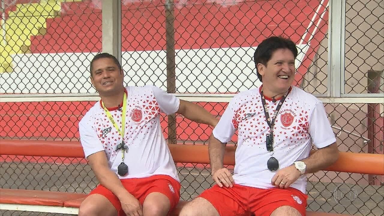 Dupla de ídolos do Cruzeiro tem a missão de resgatar o Valério da Terceira Divisão de MG