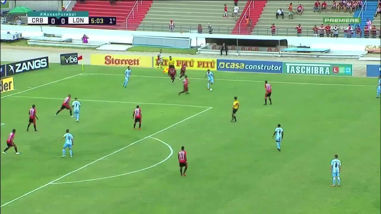 Os gols de CRB 1 x 1 Londrina