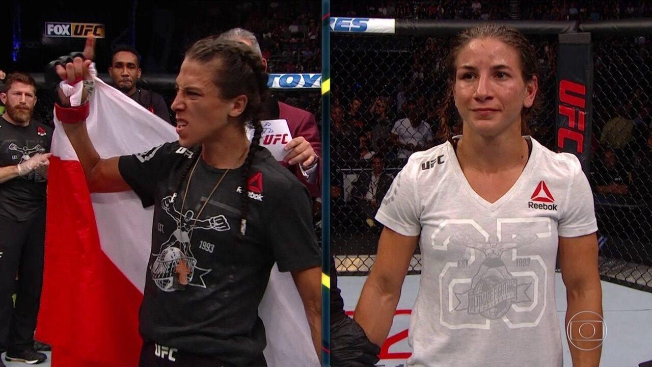 Joanna Jedrzejczyk vence Tecia Torres por decisão unânime no UFC Calgary