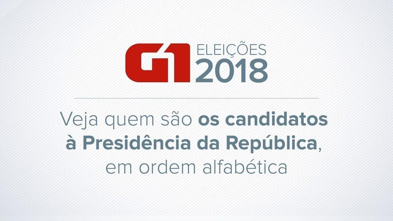 Veja quem são os candidatos à Presidência já definidos para as eleições 2018