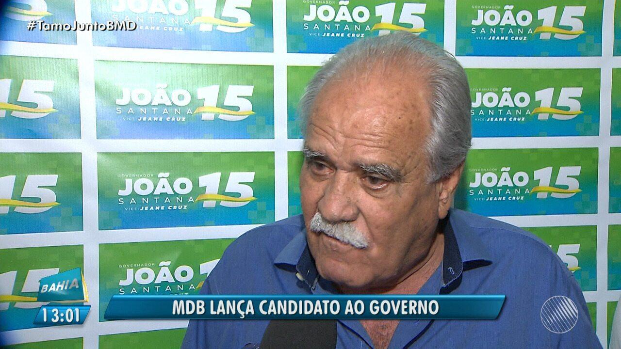 MDB anuncia o ex-ministro João Santana como candidado ao governo do estado