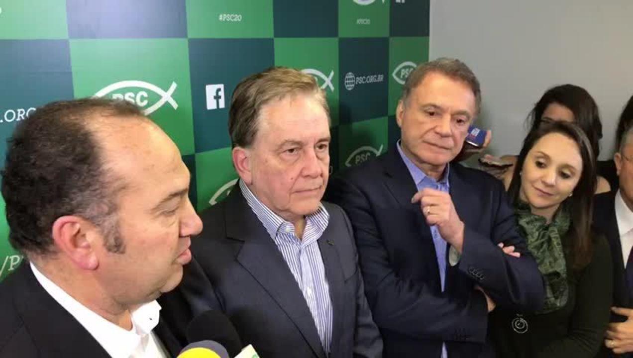 Presidente do PSC anuncia desistência de candidatura própria e chapa com Álvaro Dias