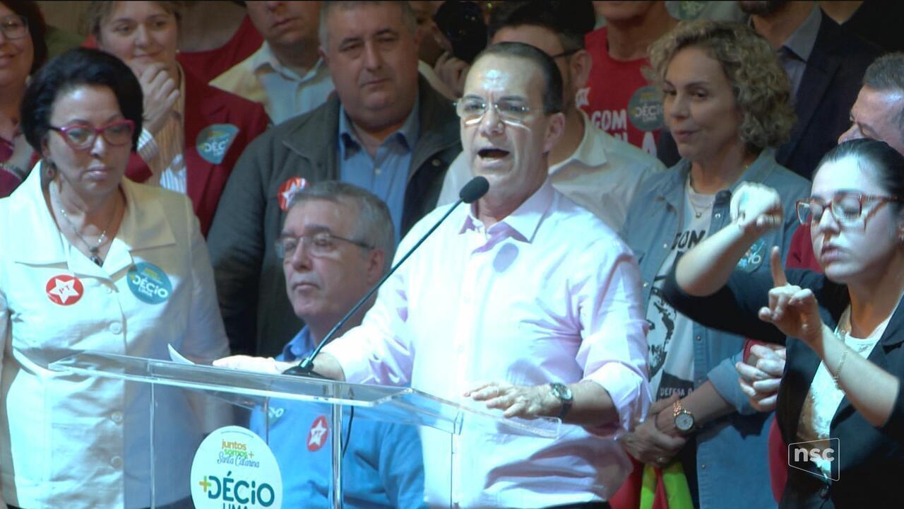 PT confirma candidatura de Décio Lima ao governo de SC