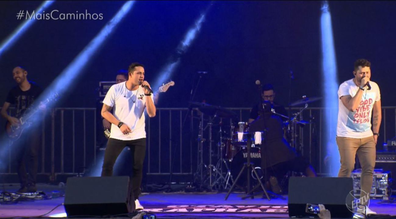 Festa de Campinas: Show da dupla Otávio e Rafael anima o público