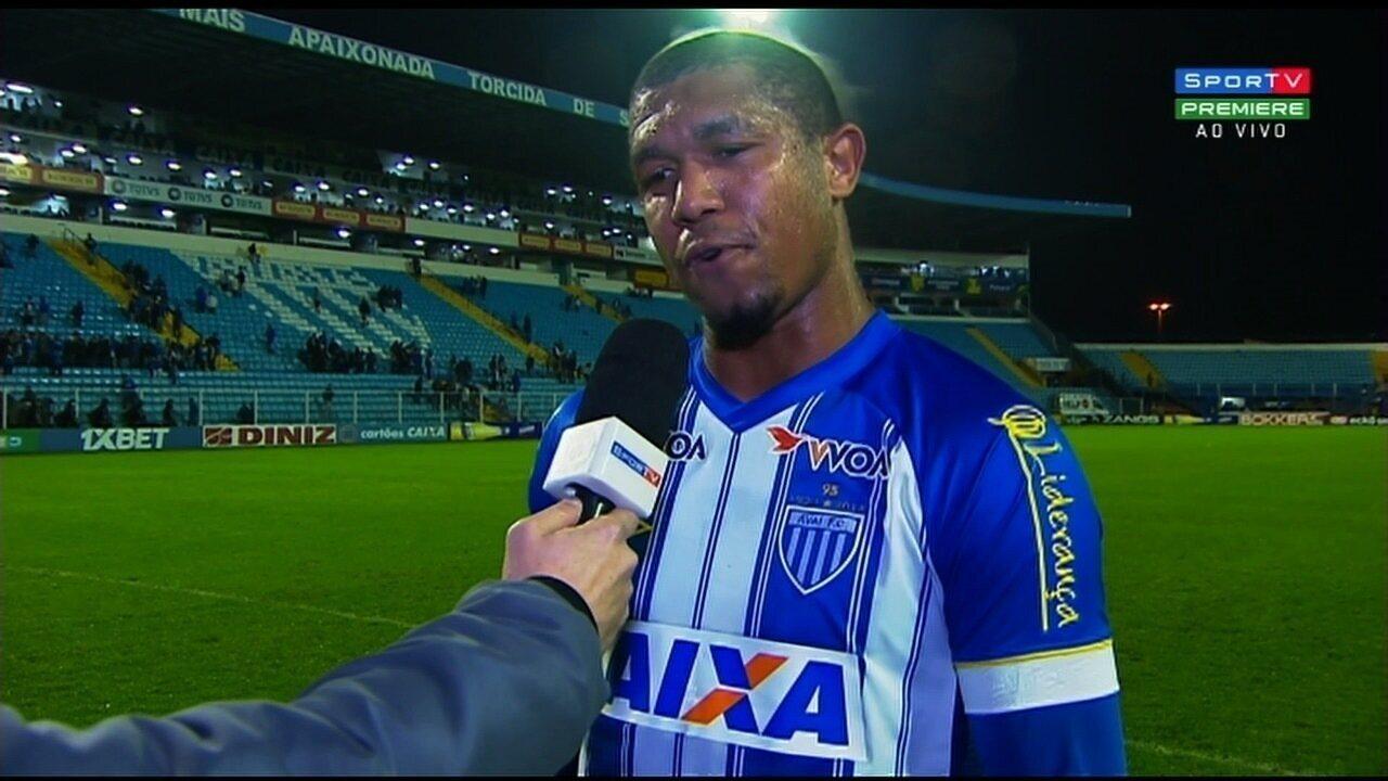 Autor do gol da vitória, Rodrigão diz que está no peso ideal