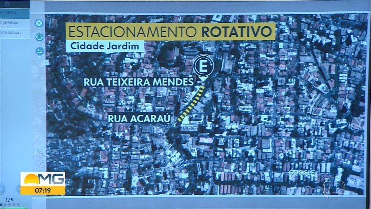 Vagas de estacionamento rotativo têm tempo reduzido na Avenida Prudente de Morais, em BH