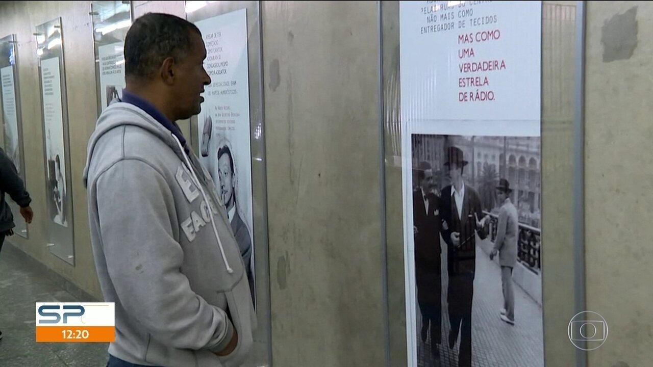 Mostra em homenagem aos 108 anos de Adoniran Barbosa no metrô
