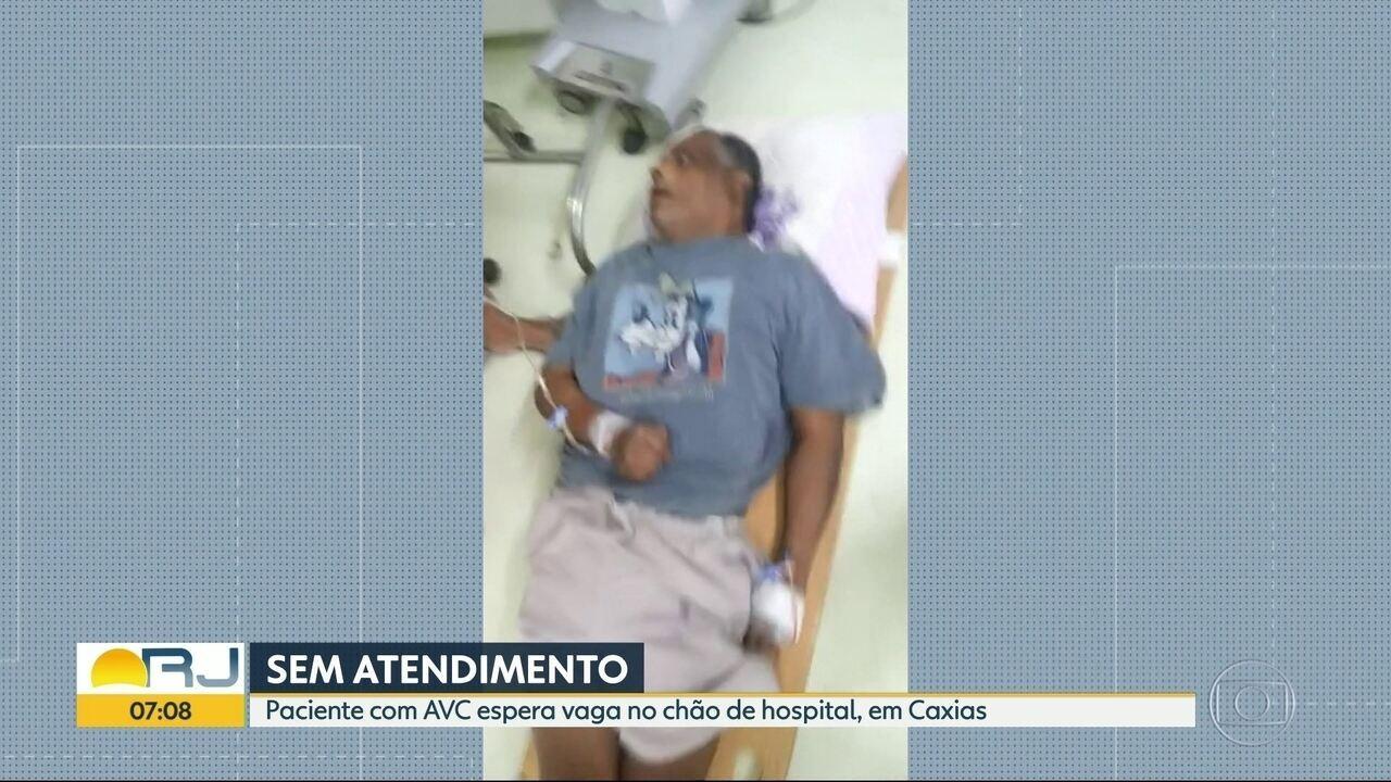 Paciente com AVC não consegue internação em Duque de Caxias