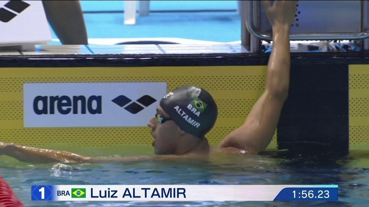 Luiz Altamir chega em 1º na final B dos 200m borboleta do Pan-Pacífico