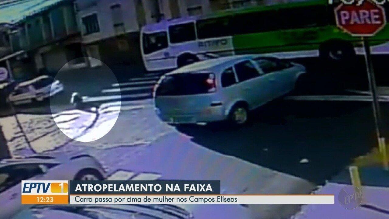 Idosa é atropelada entre as Ruas São Paulo e Minas Gerais em Ribeirão Preto