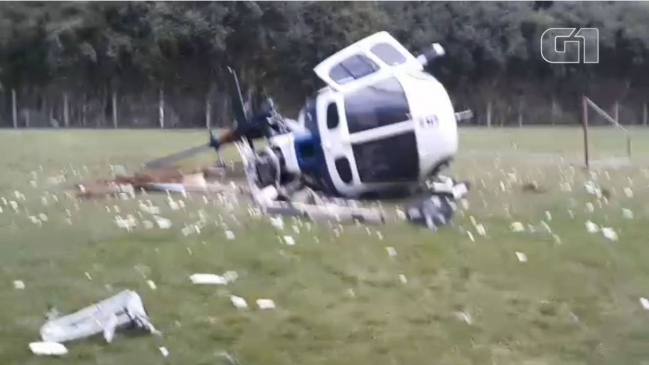 Vídeo mostra helicóptero que levava governador do ES após queda