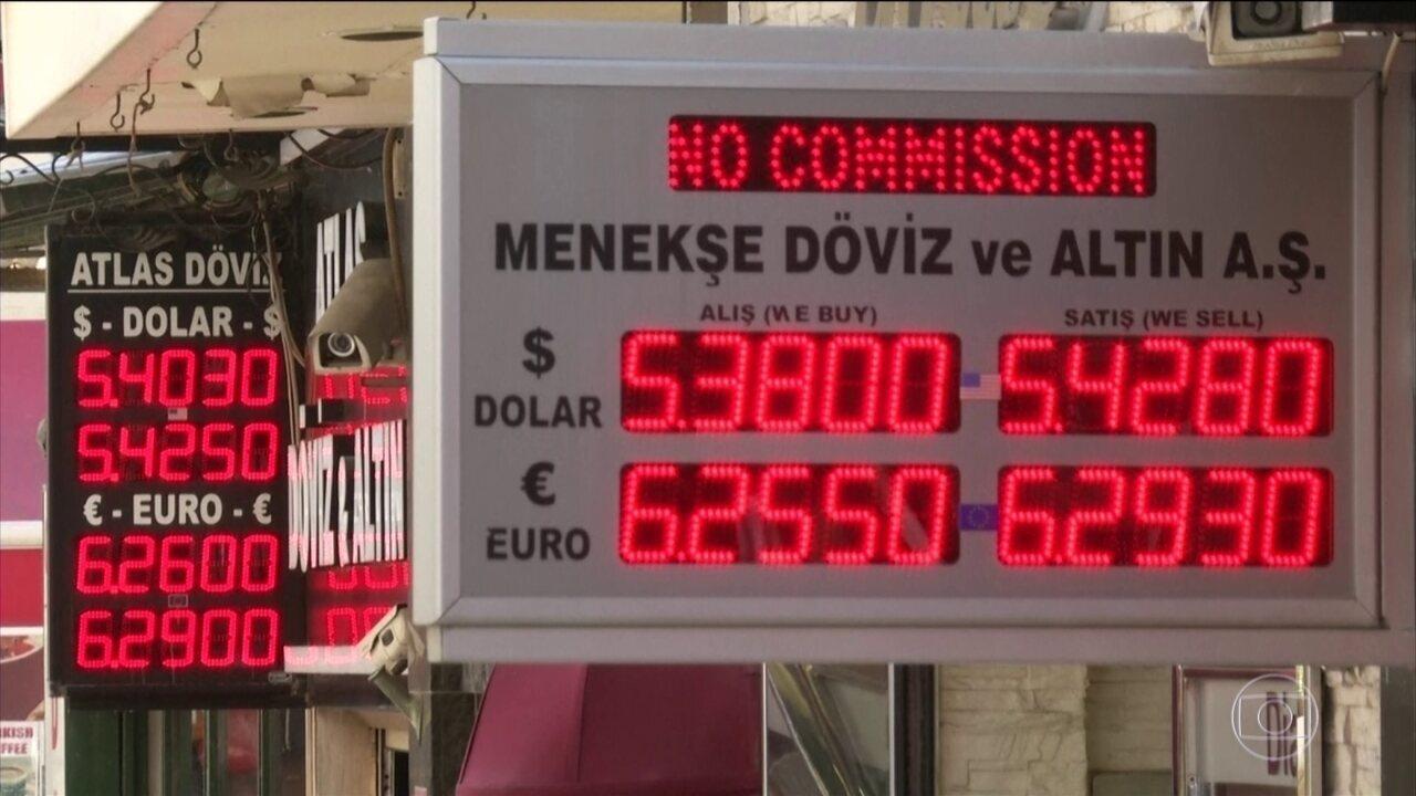 Situação financeira da Turquia derruba mercados nesta sexta-feira (10)
