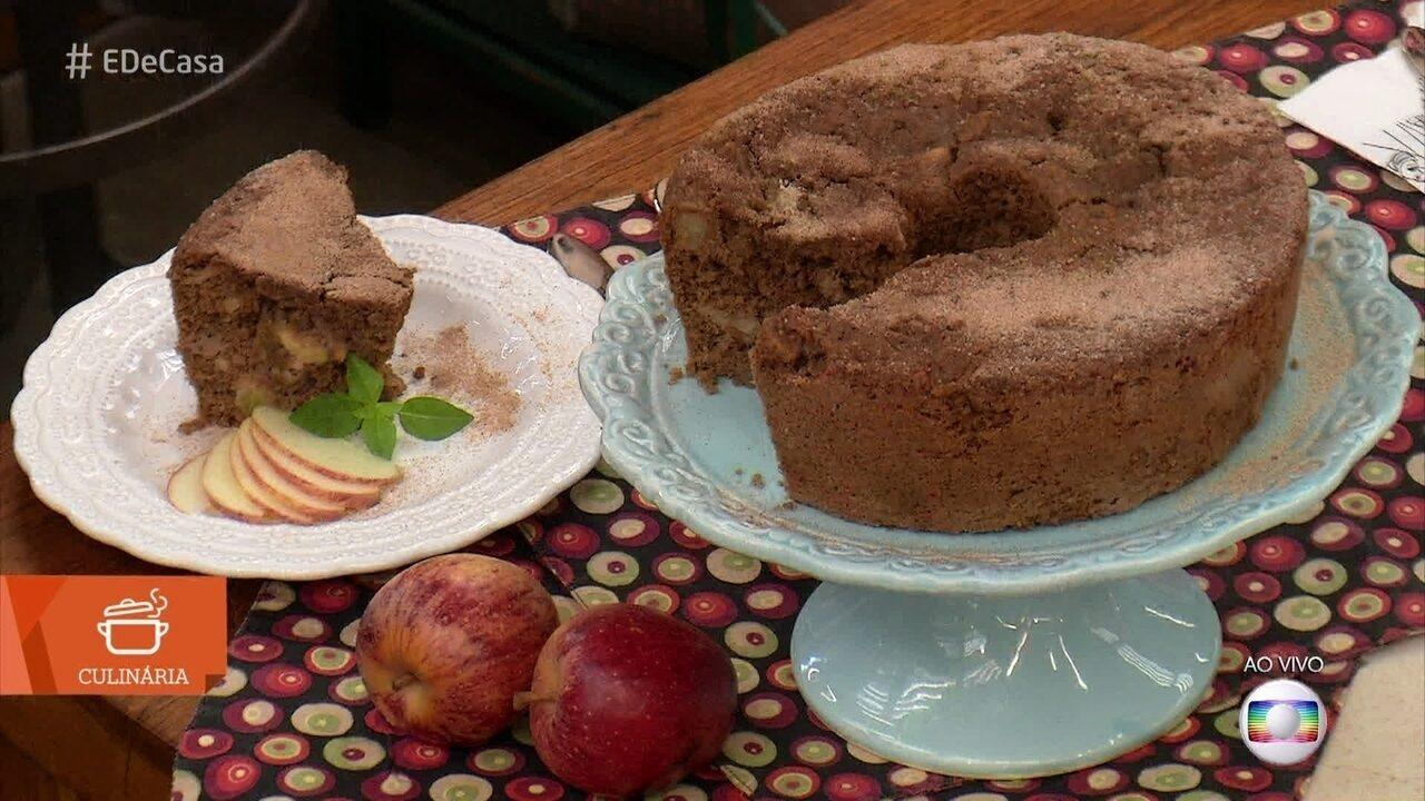 Lilian Matangrano ensina a fazer Bolo de maçã