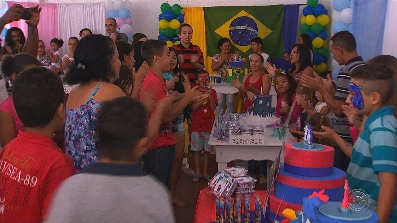Projeto social faz festas de aniversário para crianças carentes em Jundiaí