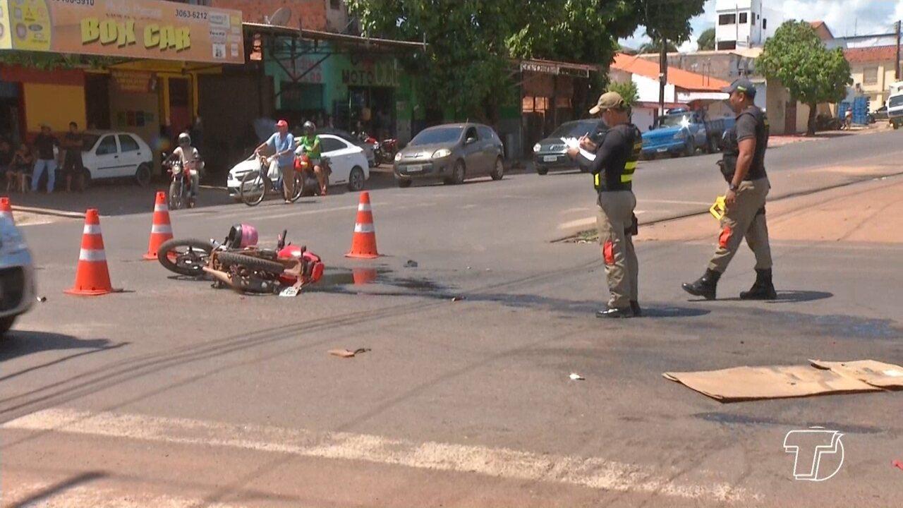 Motociclista morre em grave acidente após avançar sinal vermelho em Santarém