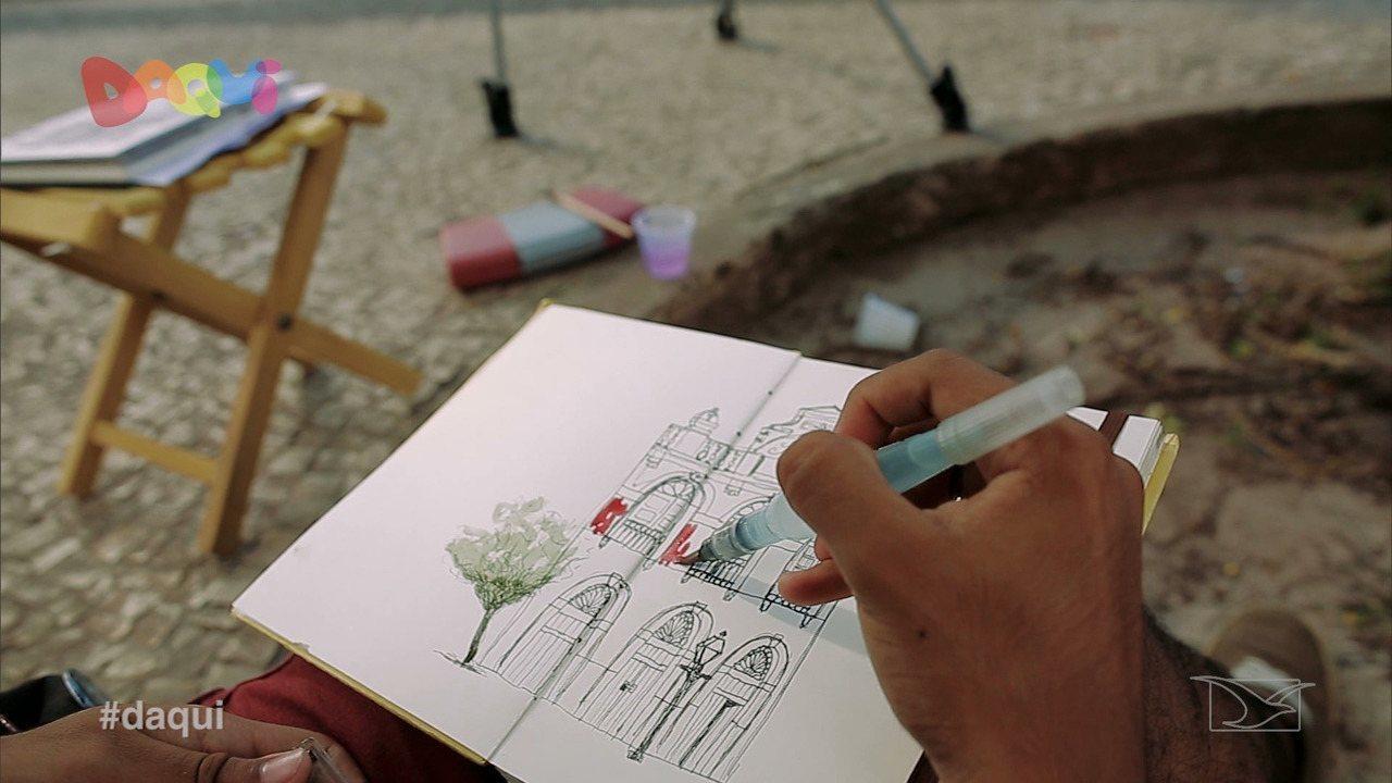 Grupo Urban Skettchers é destaque no Daqui