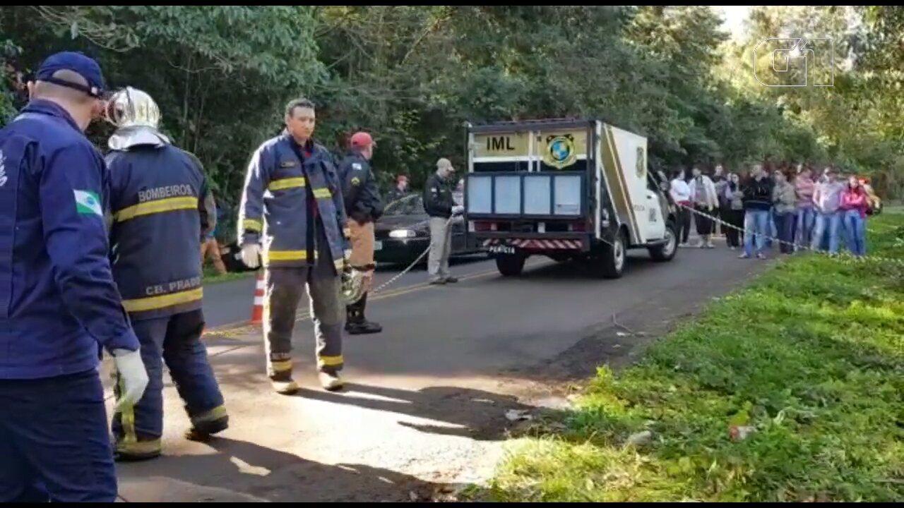 Acidente na PR-182, em Salgado Filho, deixa uma pessoa morta e outra ferida