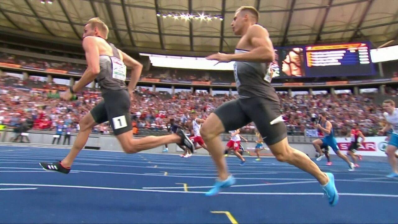 Alemães caem em prova do revezamento no Mundial europeu de atletismo