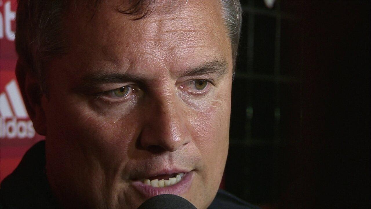Aguirre concede entrevista coletiva após vitória sobre o Sport