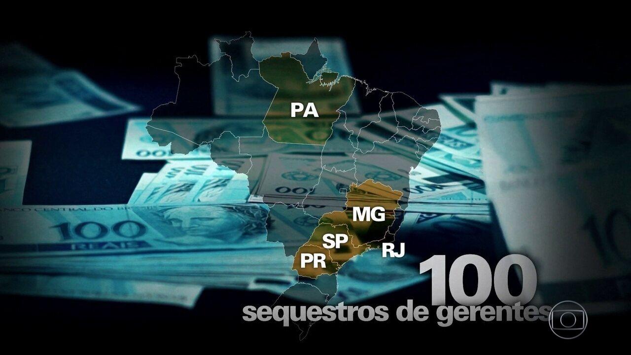 Bandidos fazem famílias de gerentes de bancos reféns por dinheiro de agências