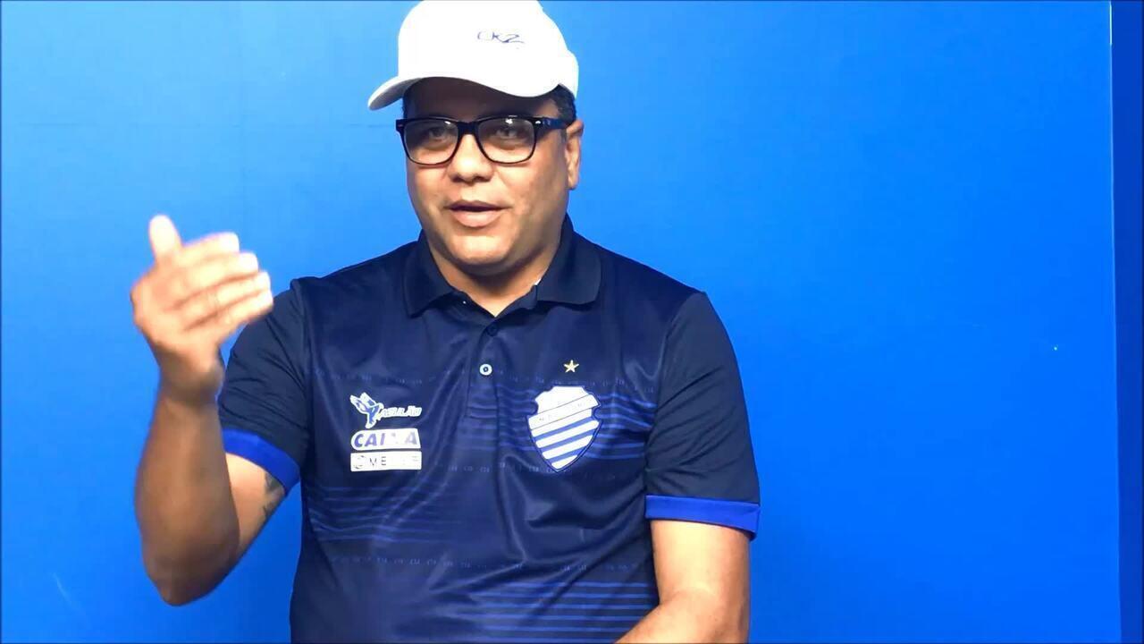 Marcelo Cabo explica como trabalha o tema rede social com os jogadores do CSA