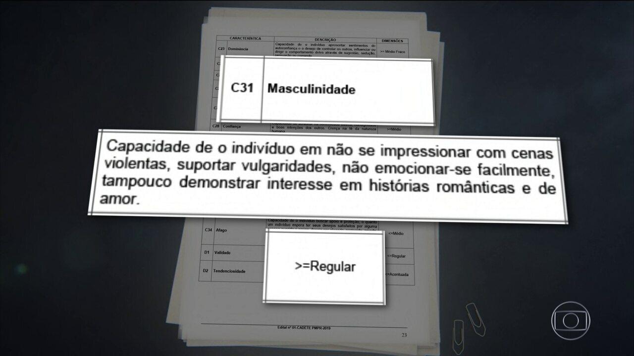 Masculinidade é critério para contratação de PMs no Paraná