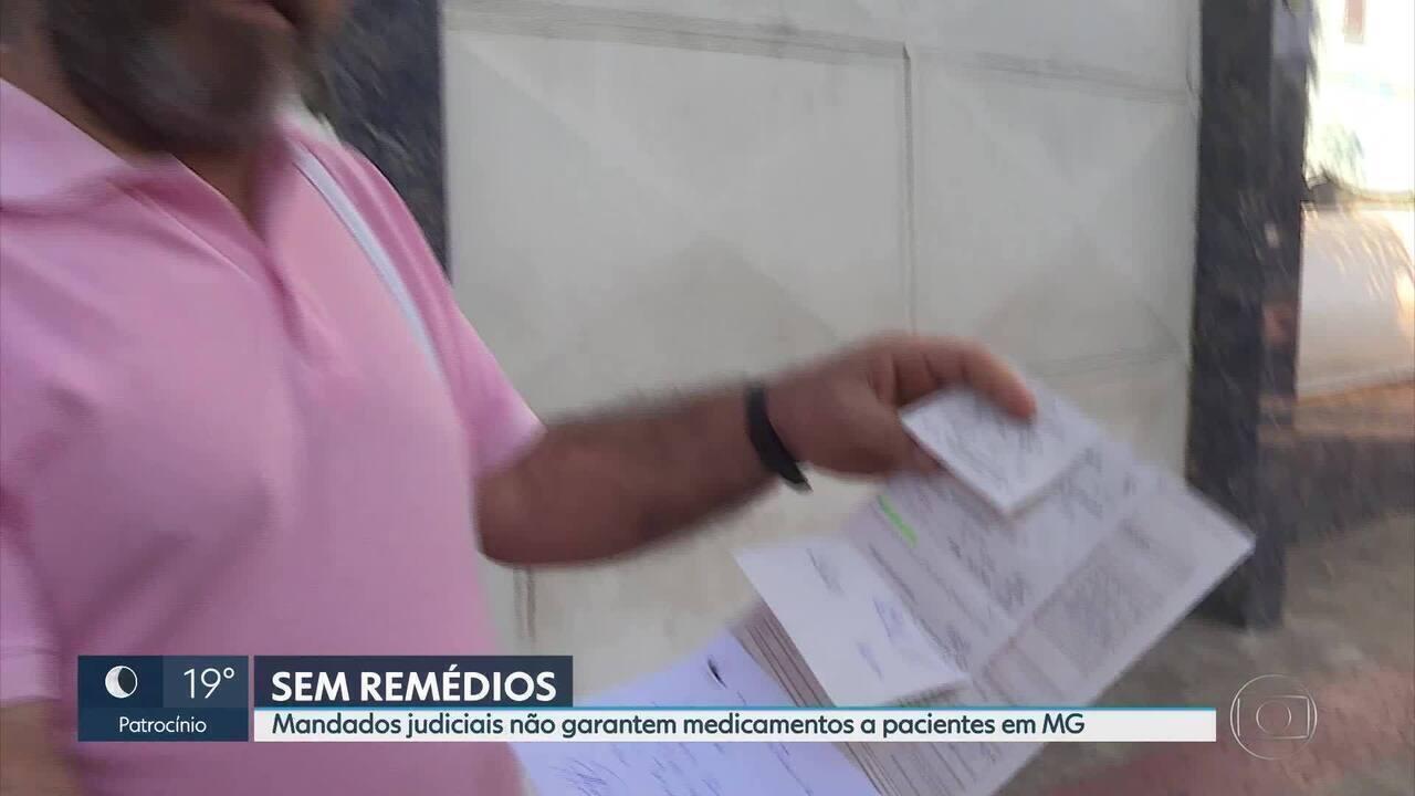 Pacientes com mandado judicial não conseguem medicamentos em MG