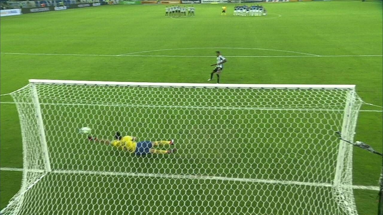 Veja as cobranças de pênalti de Cruzeiro 1 (3) x (0) 2 Santos