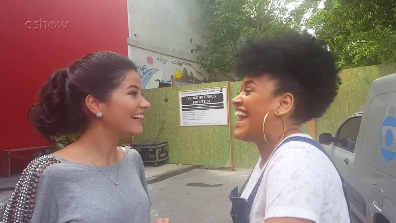 Larissa Viana e Tamires Braga comentam primeiro ensaio para Batalhas do The Voice Brasil