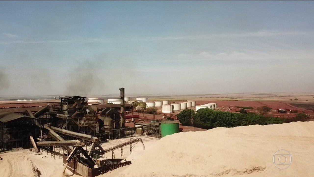 Energia produzida a partir da cana-de-açucar abastece milhares de moradores