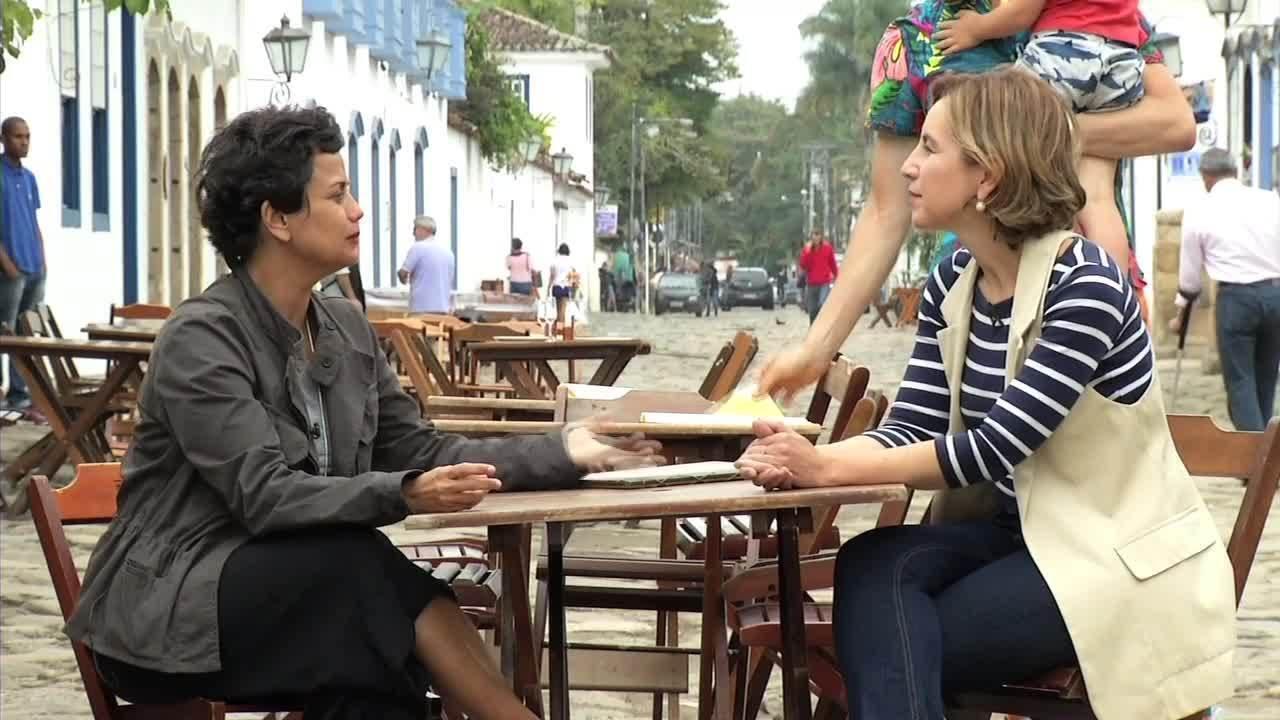 Teresa Freitas encontrou histórias saborosas em Paraty