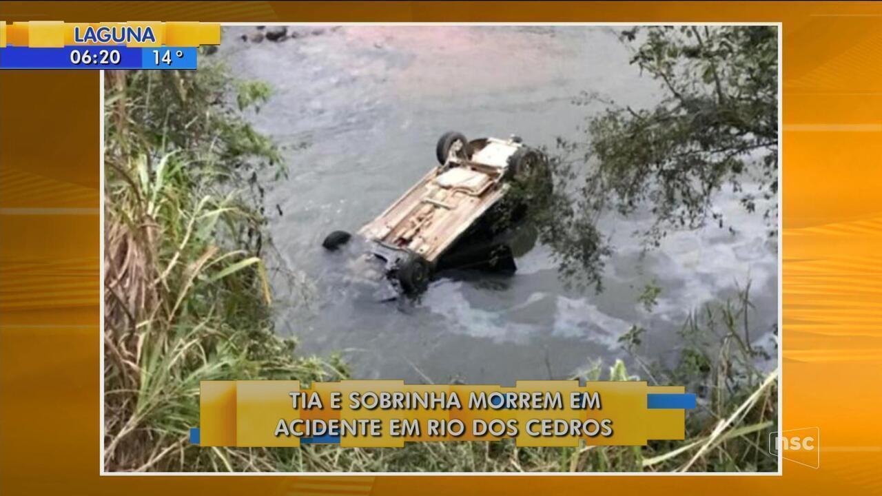 Tia e sobrinha morrem em acidente em Rio dos Cedros
