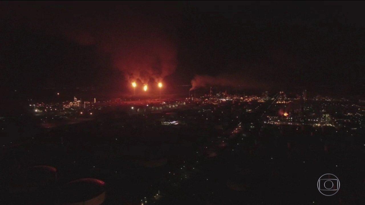 Explosão assusta moradores da região da refinaria da Petrobras em Paulínia (SP)