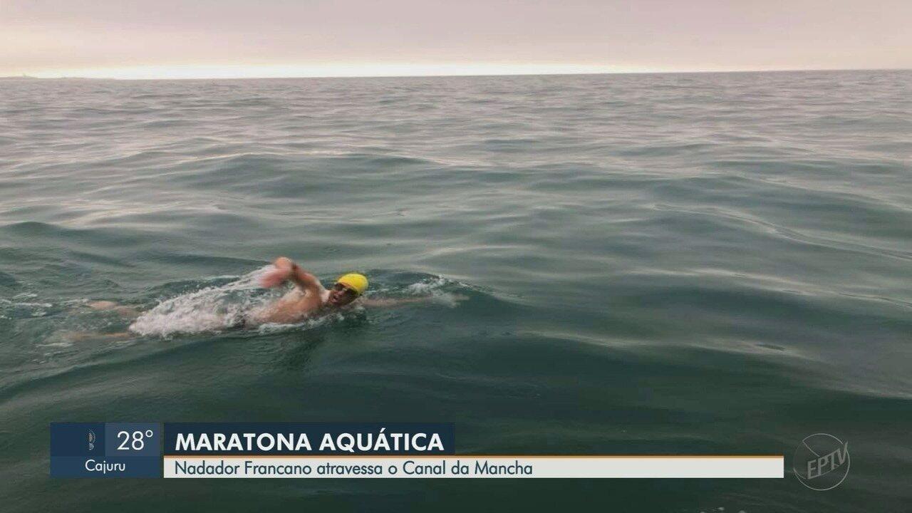 Nadador de Franca, SP, atravessa o Canal da Mancha em 11 horas