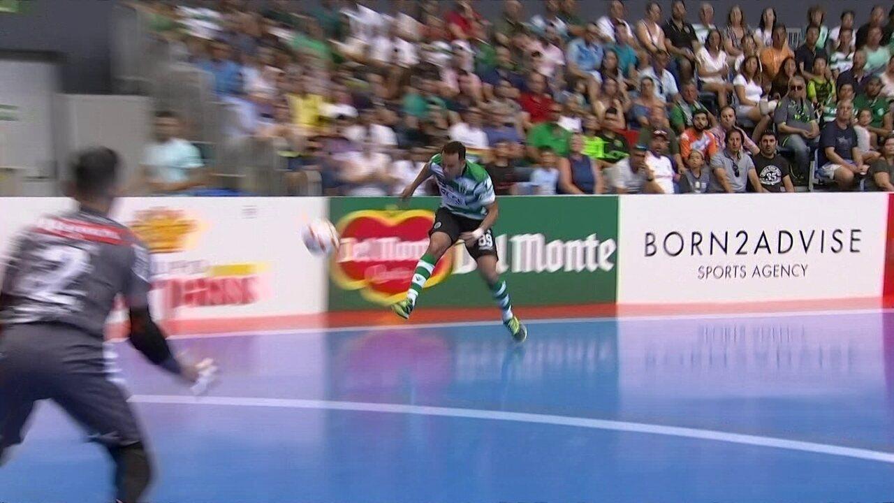 Os gols de Sporting 4 x 2 Sorocaba pelo Torneio Internacional de futsal