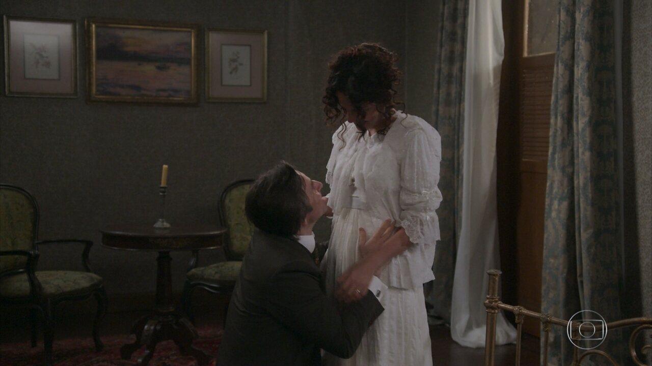 Amélia diz a Jorge que está grávida