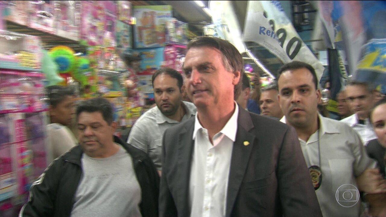 Candidato do PSL, Jair Bolsonaro, faz campanha no Rio