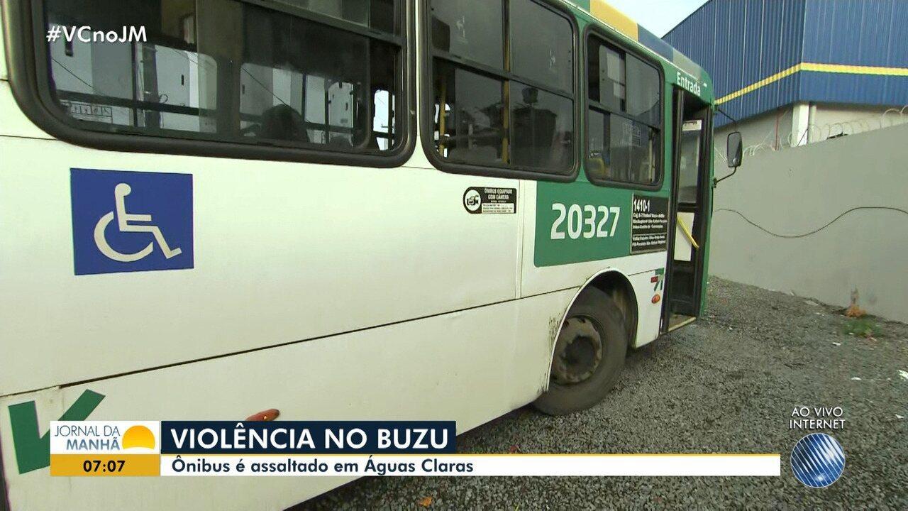 Insegurança: ônibus é assaltado no bairro de Águas Claras, em Salvador