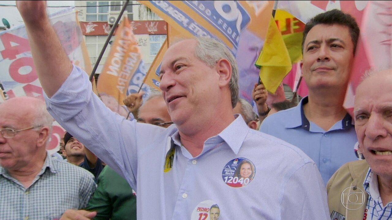Candidato do PDT, Ciro Gomes faz campanha na região metropolitana do Rio