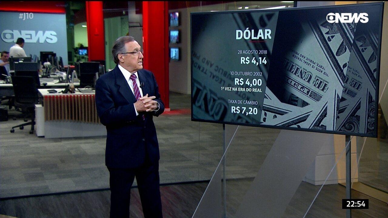Dólar volta a subir e fecha a R$ 4,14