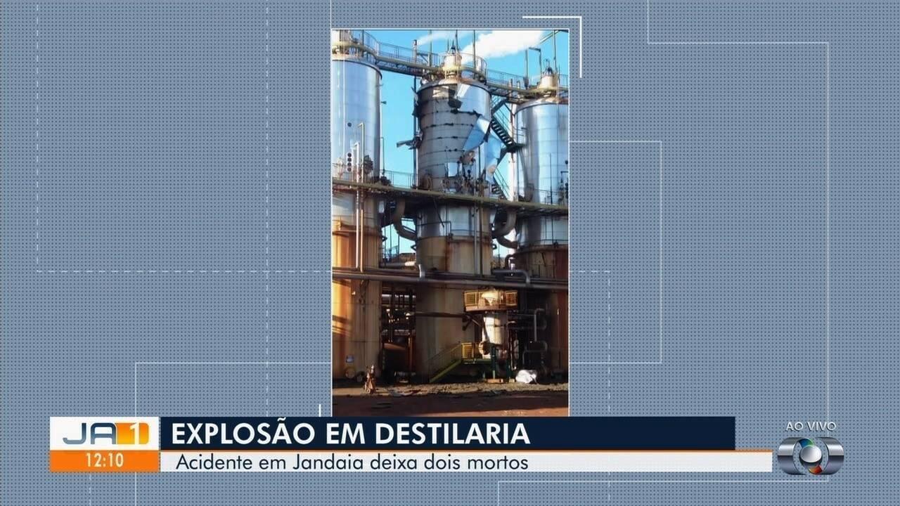 Explosão mata funcionário em destilaria de álcool de Jandaia