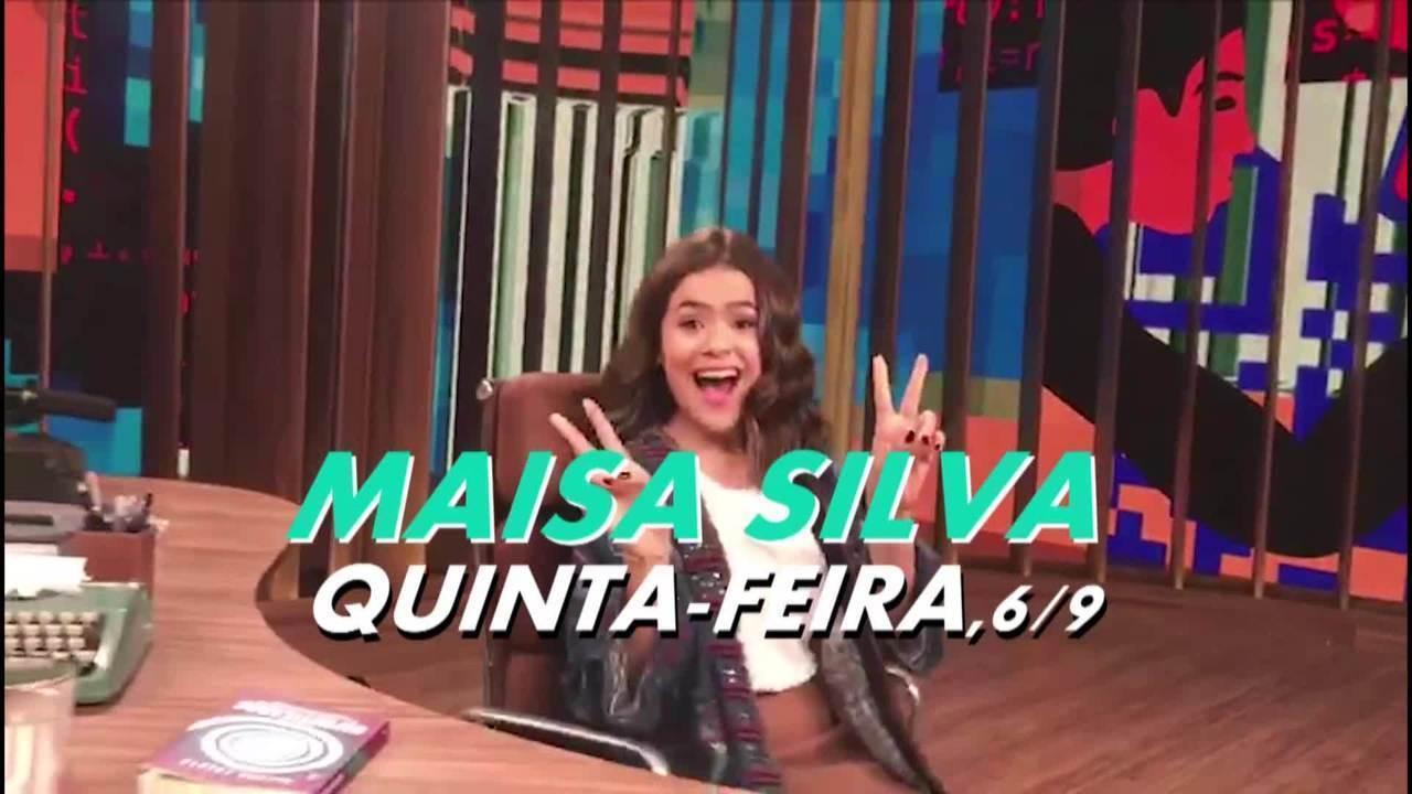 Maisa Silva gravou 'Conversa com Bial'