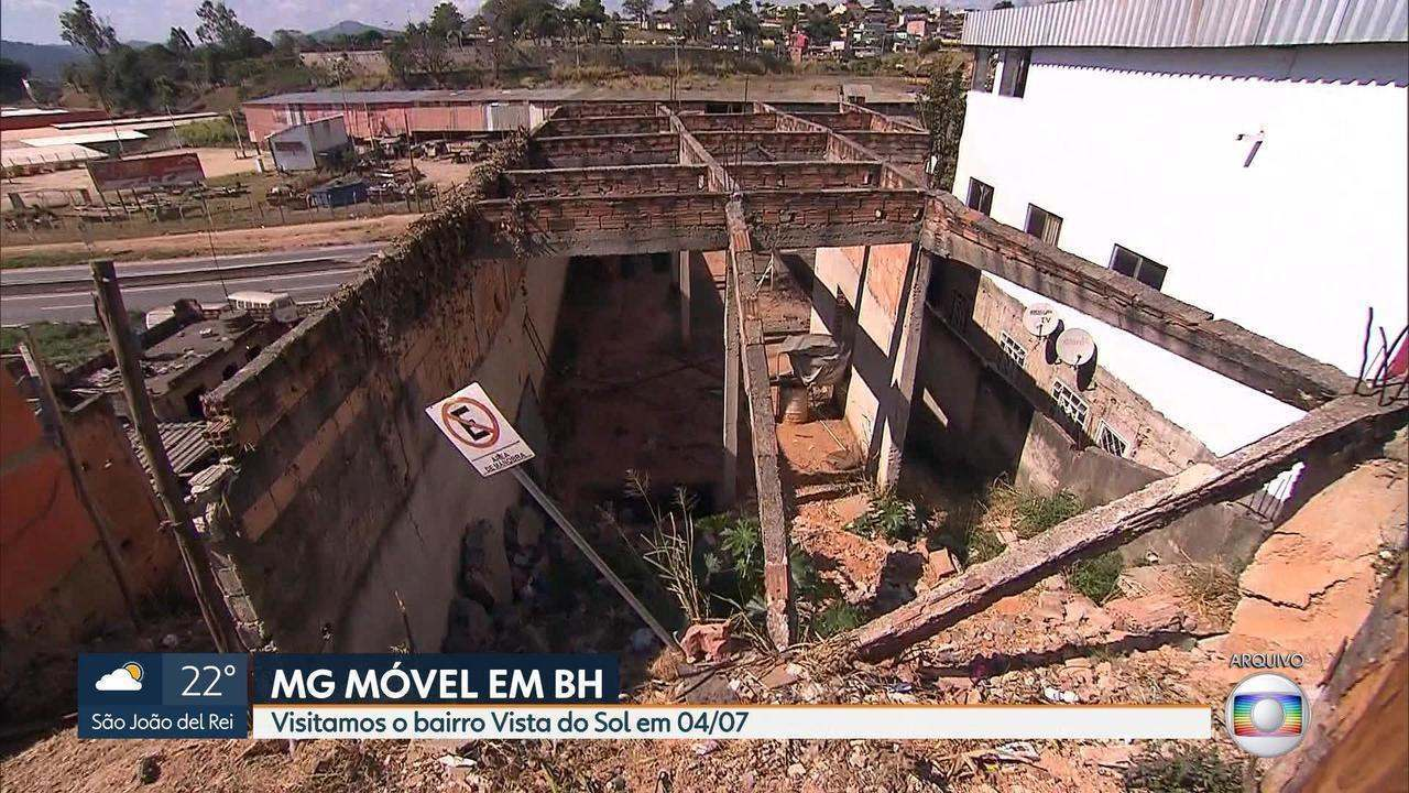 MG Móvel: Parte de obra é feita no bairro Vista do Sol, na Região Nordeste de BH