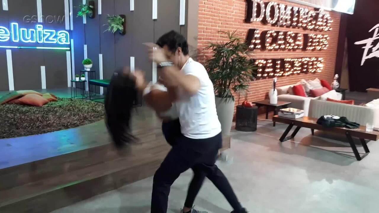 Joca relembra passos de dança no 'Dança dos Famosos'