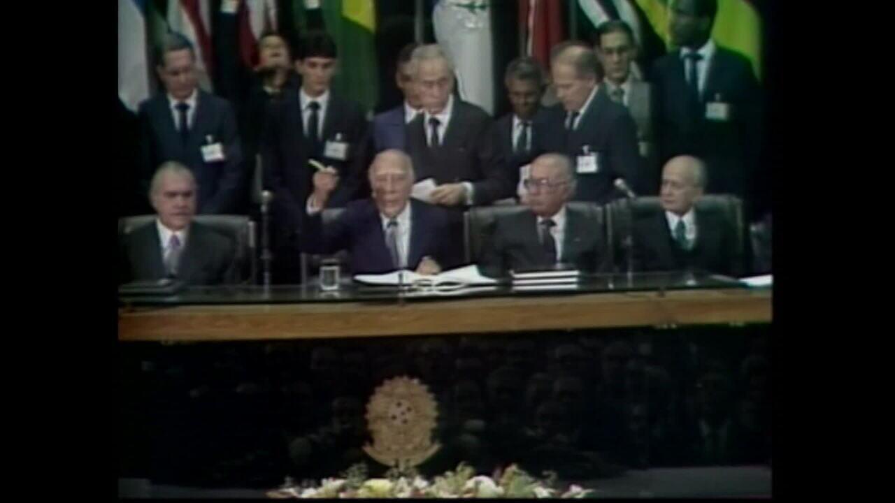Relembre a promulgação da Constituição de 1988