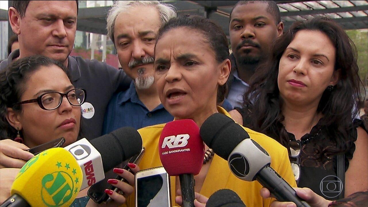 Candidata da Rede, Marina Silva faz campanha em São Paulo
