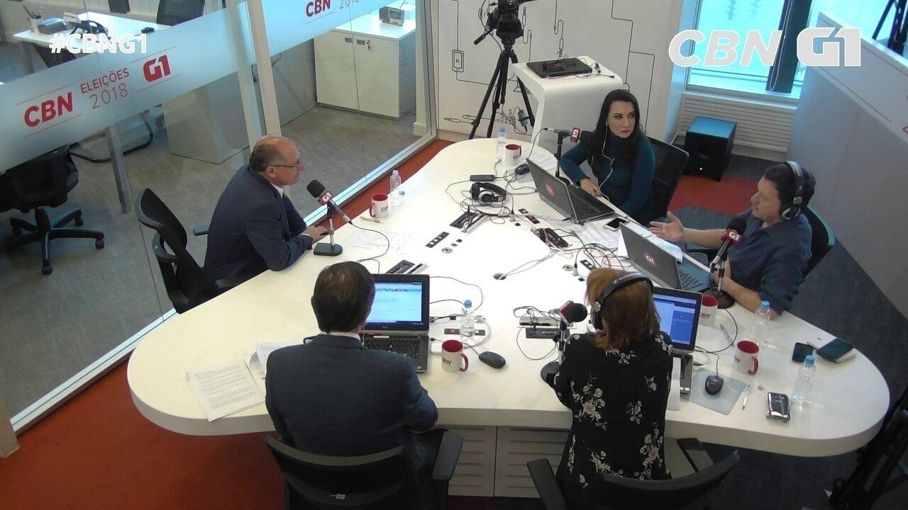 Alckmin fala sobre homicídios e violência contra a mulher