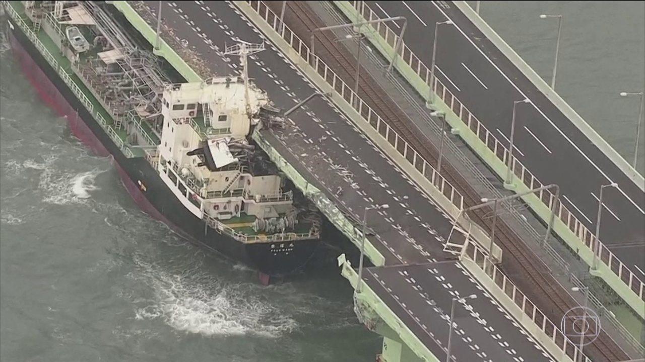 Tufão mais forte dos últimos 25 anos atinge o Japão