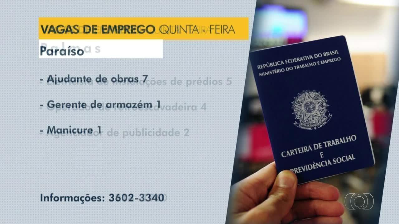 Confira as vagas de emprego disponíveis para Palmas, Paraíso e Porto Nacional