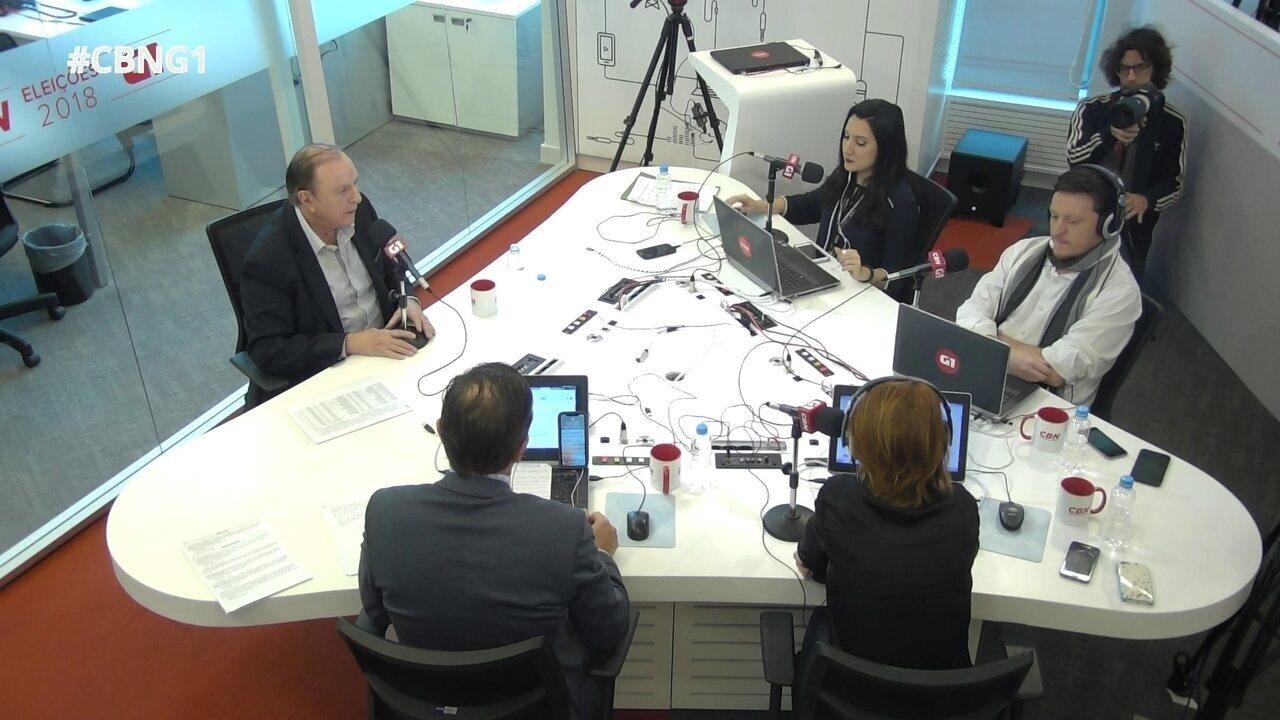 José Maria Eymael (DC) é entrevistado pelo G1 e pela CBN